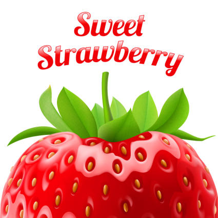 Delicious fresh strawberry vector
