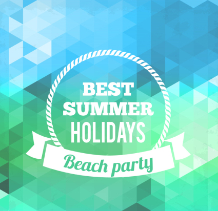 Blue Summer Beach Party Poster Vector Download Free Vector,PSD,FLASH,JPG