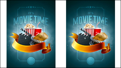 Link toBeautifully movie time illustrator vector material