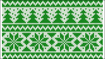 Link toGreen christmas knitting pattern background vector material