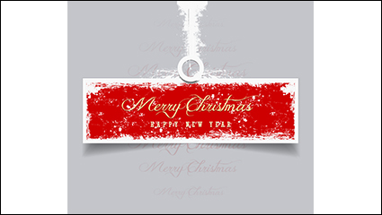 Link toCreative christmas red tag vector material