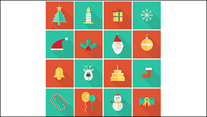 Link to16 models of creative christmas icon vector material