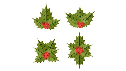 Link to4 mistletoe cartoon vector material