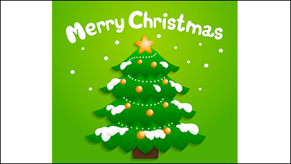 Link toCartoon snow christmas tree vector material