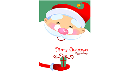 Cartoon kindly Santa Claus vector material