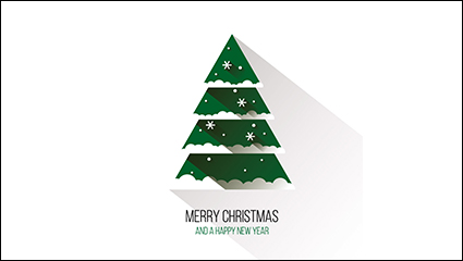 Link toFlat green christmas tree vector material