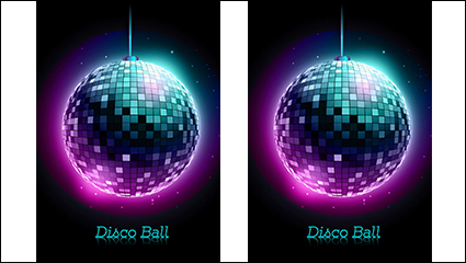 Disco lights glare ball vector material