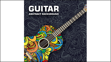 Creative Guitar pattern vector material