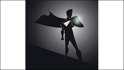 Link toCreative superman silhouette vector material