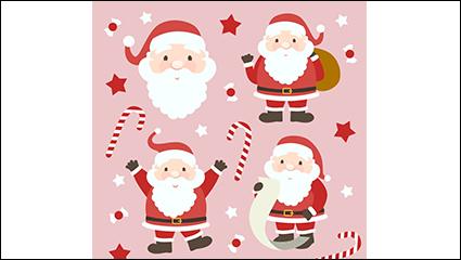 Link to4 santa claus cartoon design vector material