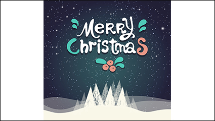Snowy Christmas Blessing poster vector material