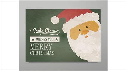 Link toVintage santa claus greeting card vector material