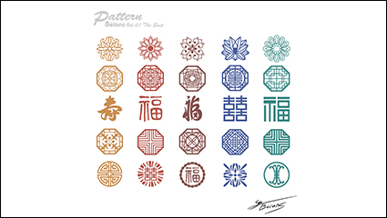 Link toTraditional chinese style retro pattern vector material