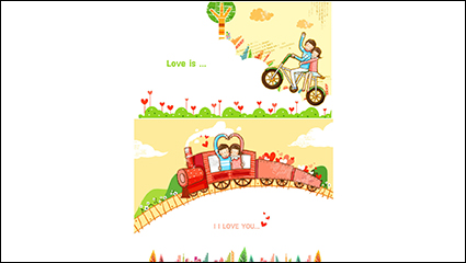 Link toCartoon couple illustrator vector material