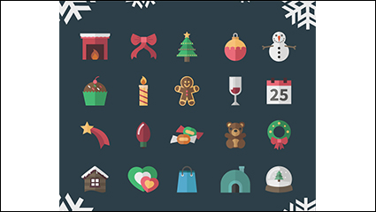 Link to20 models of creative christmas icon vector material