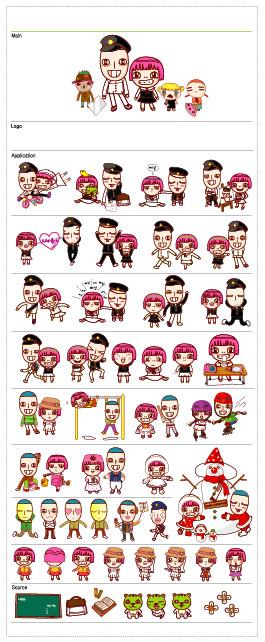 Cartoon Characters Png. cute cartoon characters
