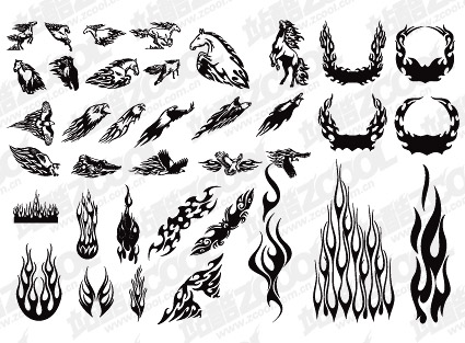 eps format keyword vector material vector tattoo totem the flame