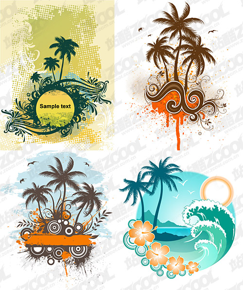 4 coconut trees theme vector material over millions vectors com share 4 coconut trees theme vector material you can download now toneelgroepblik Image collections