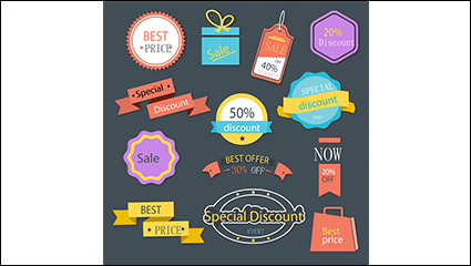 Link to13 paragraph discounts tag vector material