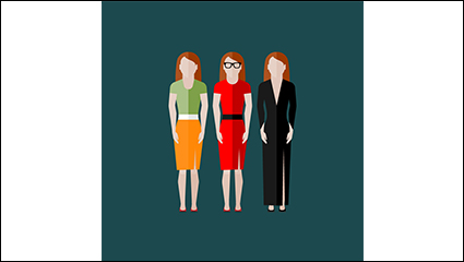 3 Fashion woman design vector material