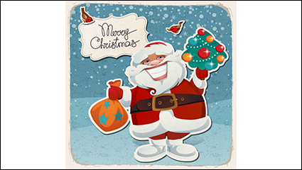 Ziya cartoon Santa Claus greeting vector material