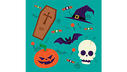 8 exquisite Halloween element vector