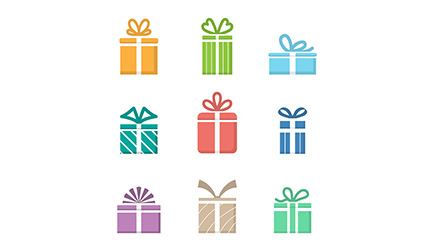 9 creative gift design vector material