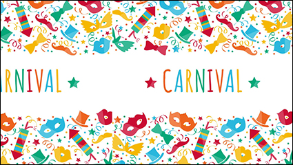 Carnival creative background color vector material