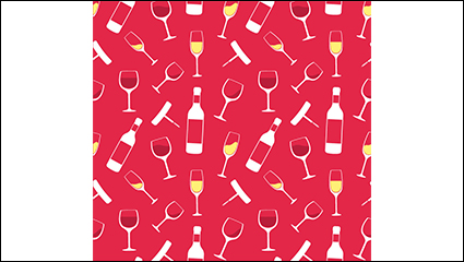 Champagne and glasses seamless background vector material