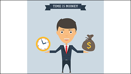 Time is money illustrator vector material