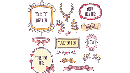 15 of the fresh decorative elements vector material