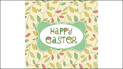 Link toEaster greeting card color leaves vector