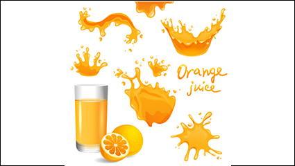 Link to8 juice splash design vector material