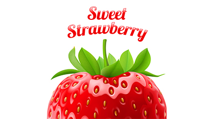 Link toDelicious fresh strawberry vector