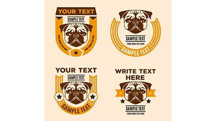 Link to4 creative khabarovsk dog tag vector material