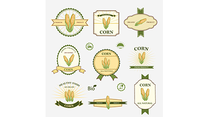 9 corn product label vector map
