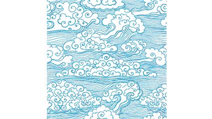 Auspicious clouds blue background vector material