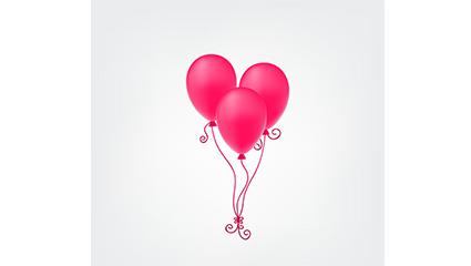 Pink balloon beam vector material