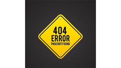 Metal 404 error page design vector material