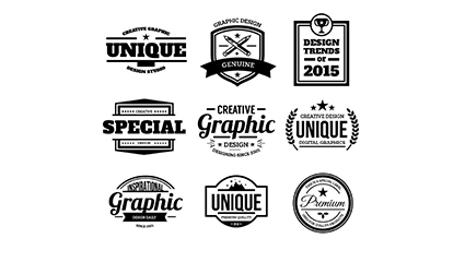 9 black quality label vector material