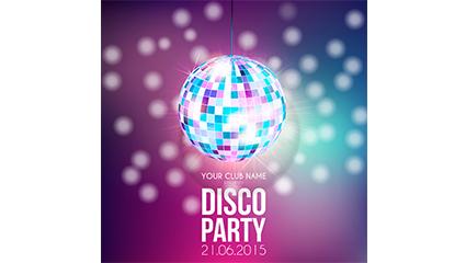 Link toFashion disco ball poster vector material
