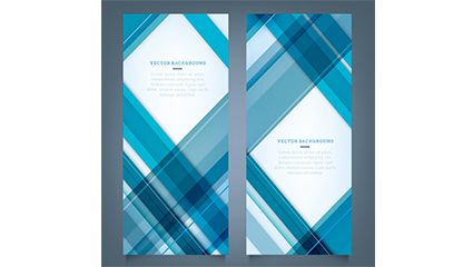 Link to2 blue grid banner vector material