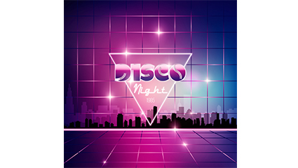 Link toFashion disco party poster vector diagram
