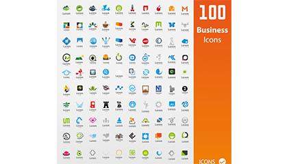 100 business logo vector material