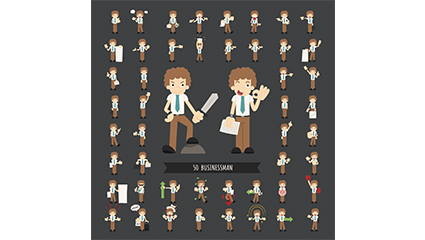 Link to50 of the cartoon business men vector material