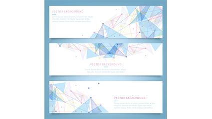 Link to3 blue geometric banner vector