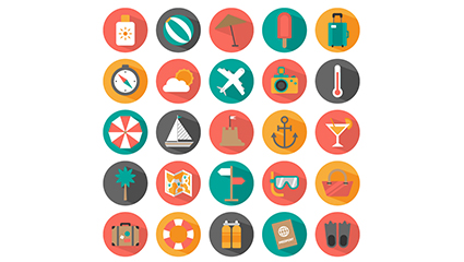 Link to25 summer holiday icon vector material