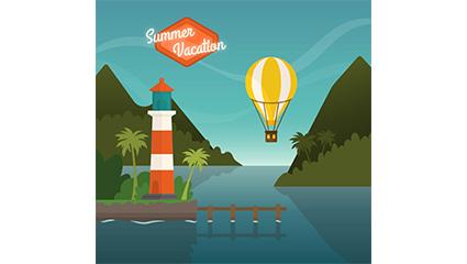 Link toSummer holiday illustration vector material