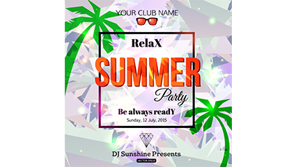 Link toFashion summer party poster vector map