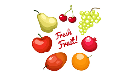 Link to7 delicious fruit vector material
